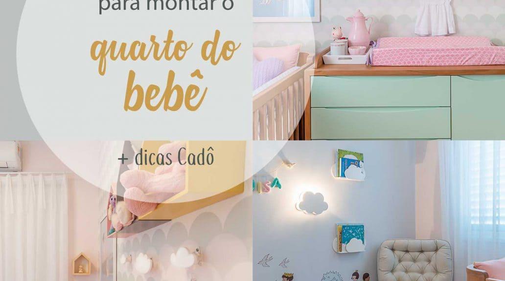 Imagem ilustrativa do artigo sobre itens mais importantes para montar o quarto do bebê. Na imagem, exemplo desses itens essenciais.