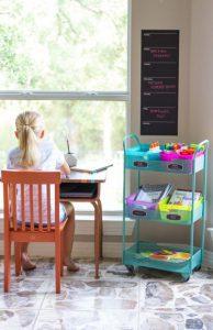 Imagem ilustrativa de um ambiente de estudos infantil em casa
