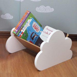 Imagem do porta-livros nuvem de chão da Cadô