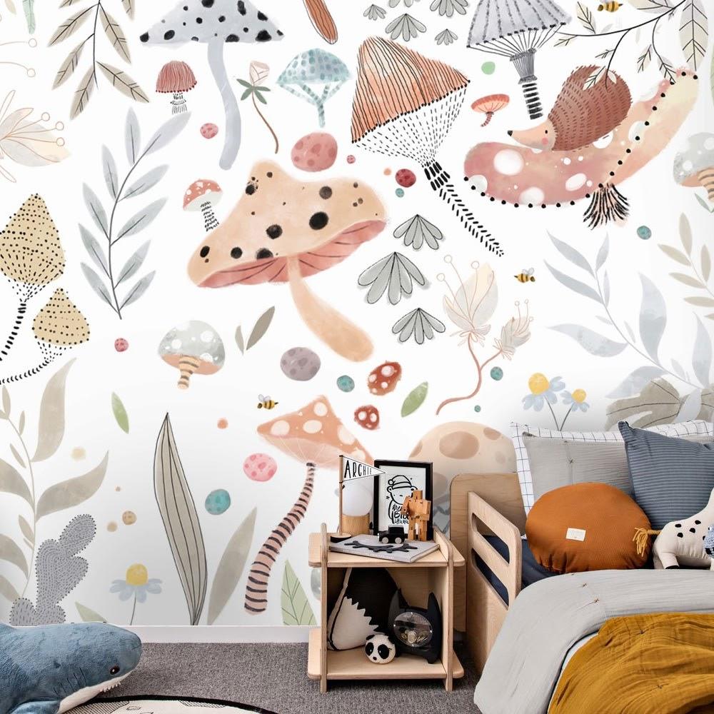 Exemplo de papel de parede para quarto de menina