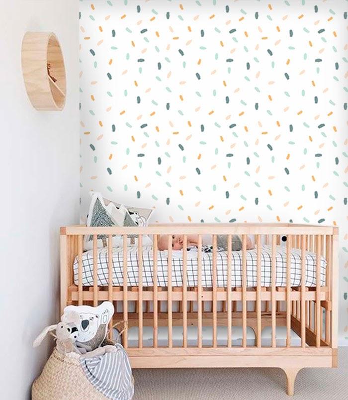 Exemplo de papel de parede para quarto de bebê