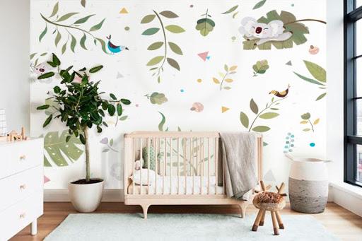 Imagem ilustrativa de papel de parede para quarto infantil