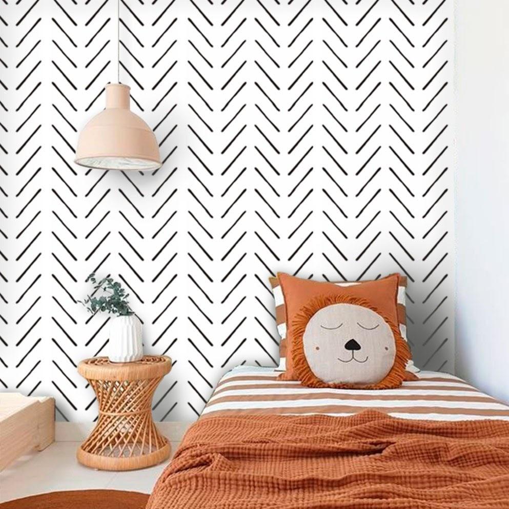 Exemplo de papel de parede para quarto de menino
