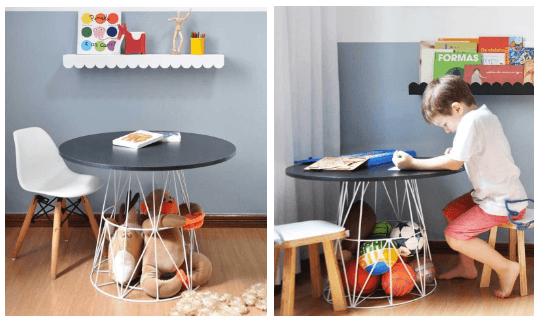 Mesa Mime para quarto infantil de menino