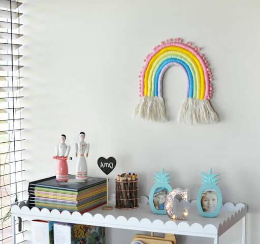 arco íris decorativo