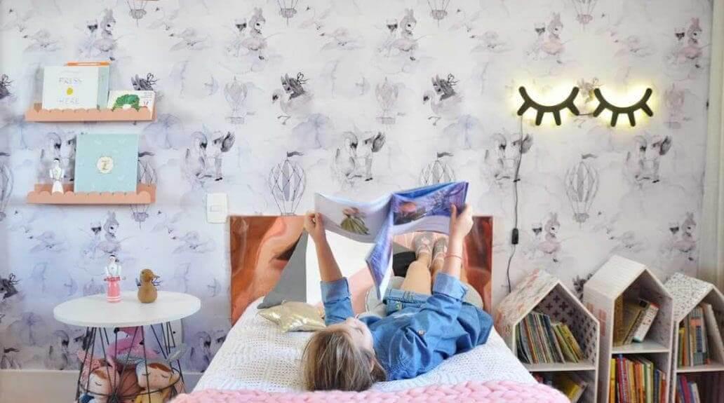Imagem de como as luminárias infantis da Cadô ficam expostas