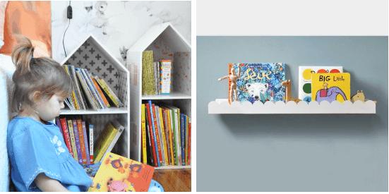 como organizar livros infantis com as prateleiras da cadô!